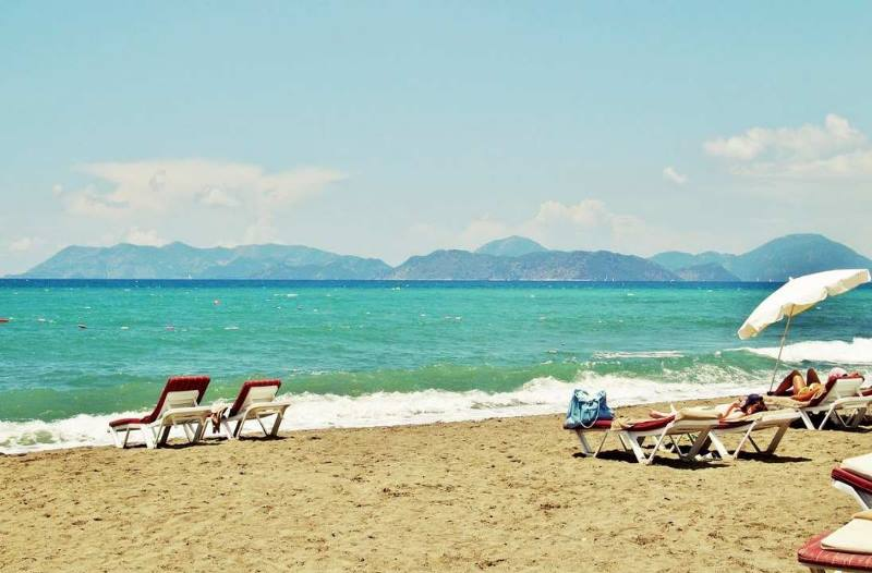 пляж в сентябре