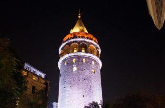 башня в ночи
