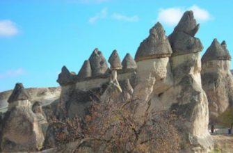 фото необычных заострений на горе