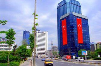 турецкий флаг во весь дом