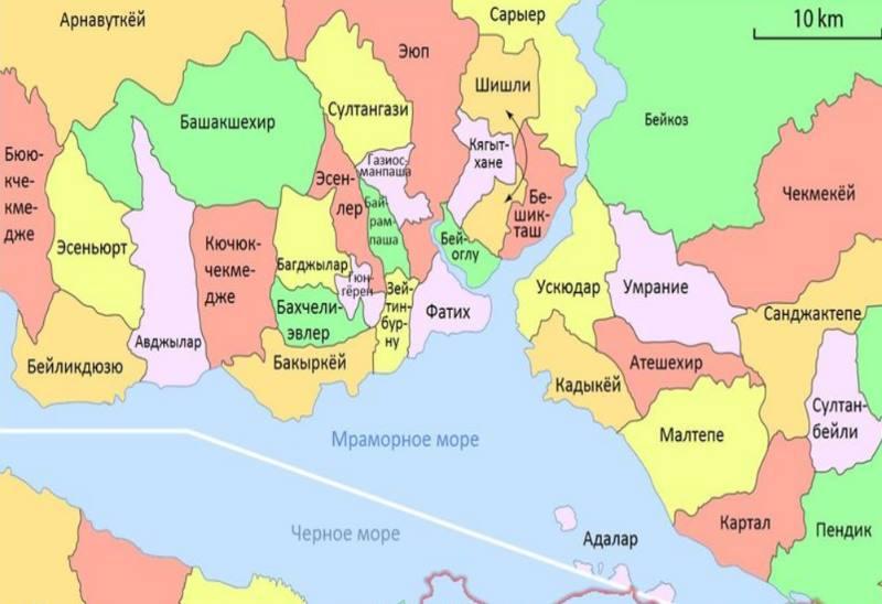 стамбул - карта районов